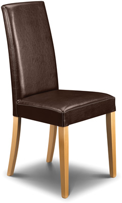 Assembled dining room chairs - wooden, chrome with padded or non padded seats
