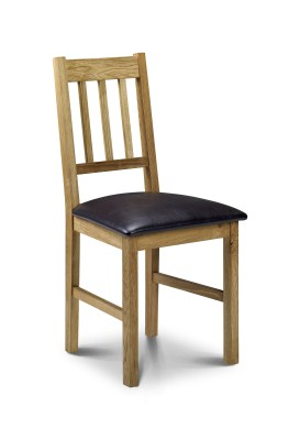 Assembled kitchen chairs - wooden, chrome with padded or non padded seats