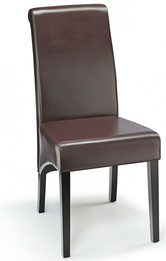 Dining room chairs - next day - chrome, wood and padded